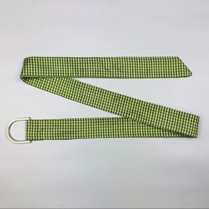 Accessories - Adorable Green/White Plaid Belt